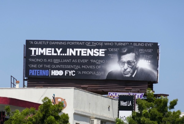 Paterno HBO movie 2018 Emmy FYC billboard