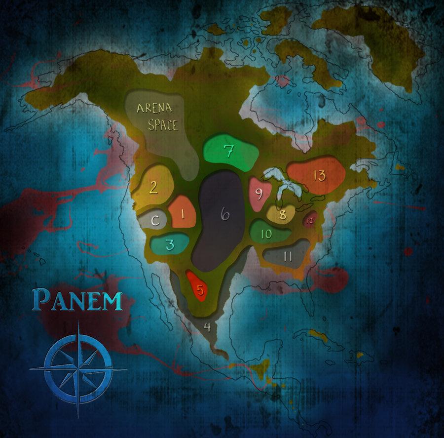 Los juegos del hambre Mapa de Panem