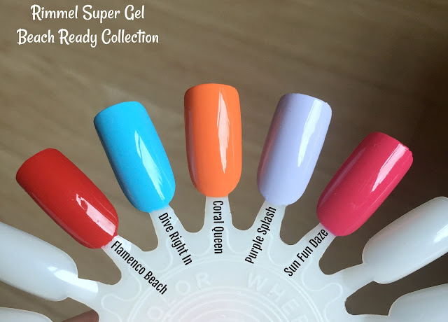 Rimmel Super Gel Beach Ready Collection Swatches