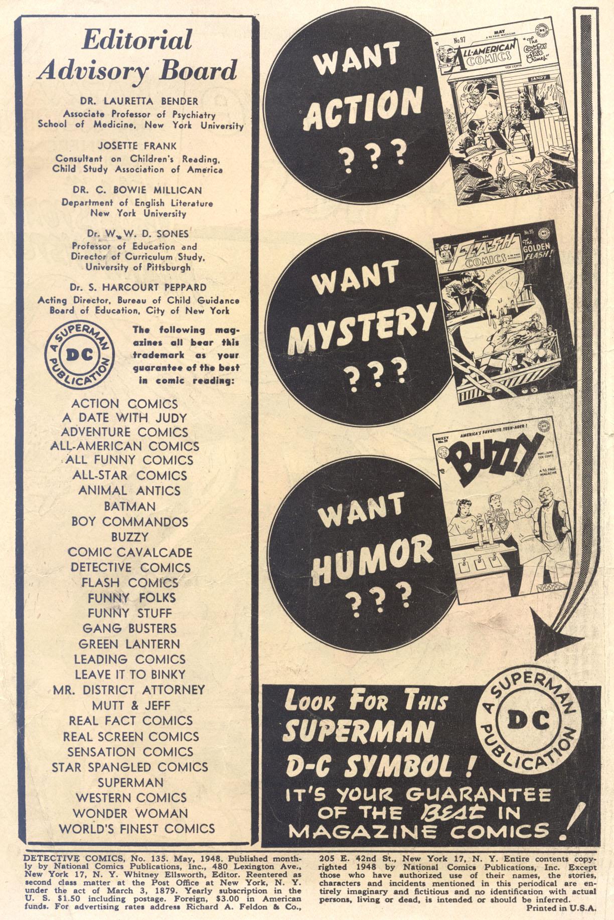 Detective Comics (1937) 135 Page 1