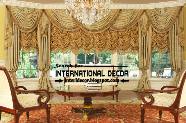 country French curtain styles for living room window, living room curtains