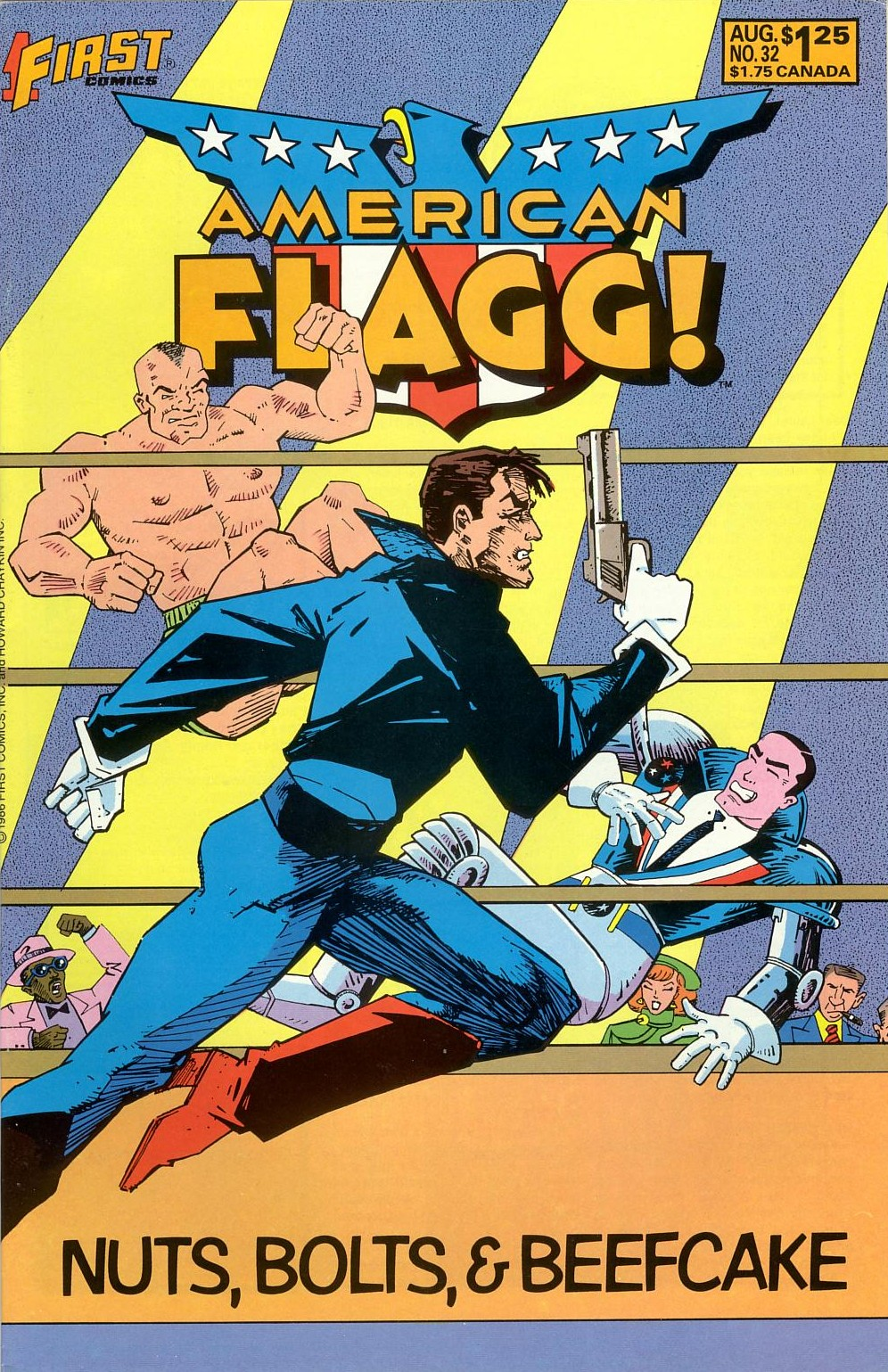 Read online American Flagg! comic -  Issue #32 - 1