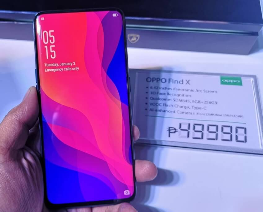 OPPO Find X Lands in PH for Php49,990; Available Starting August 11