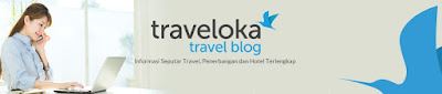 halaman depan web official Traveloka