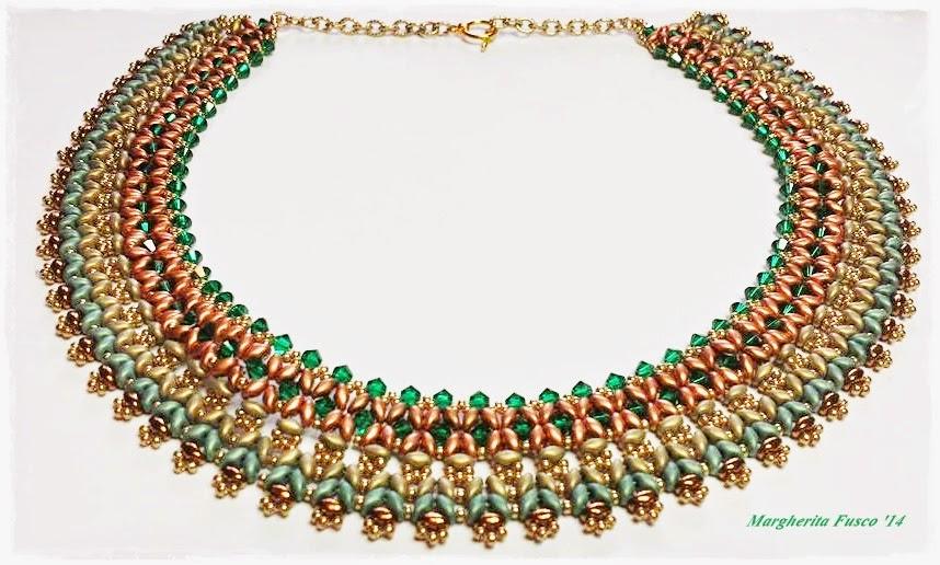 Super 75marghe75 Bead By Bead: Collana Sokar con perline superduo  OR78