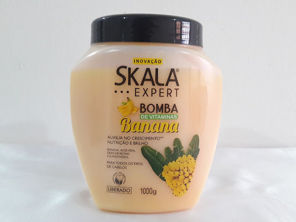 Resenha: Máscara Bomba de Vitaminas Banana - Skala