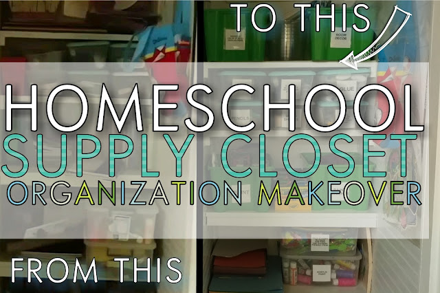 homeschool closet organization