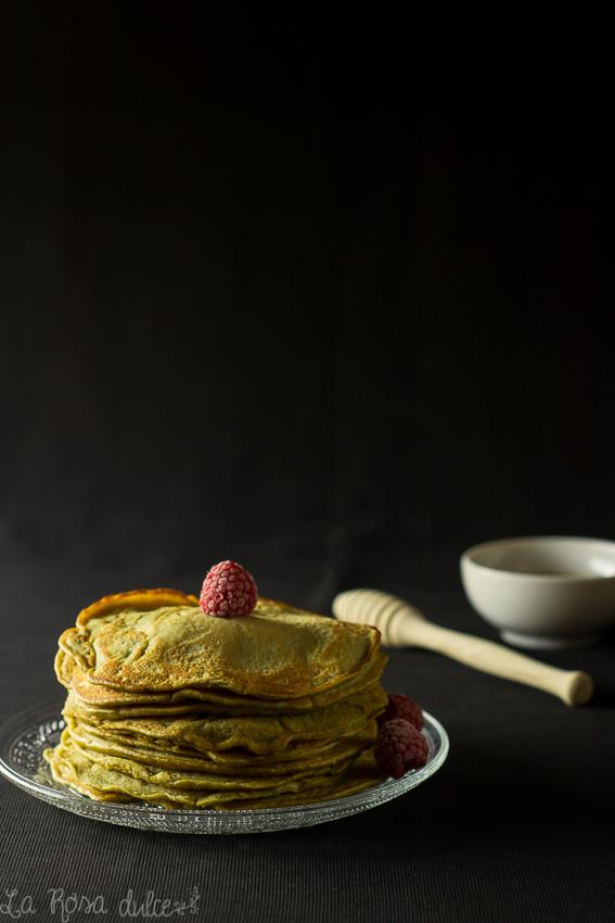 Tortitas de té matcha sin lácteos | la Rosa dulce
