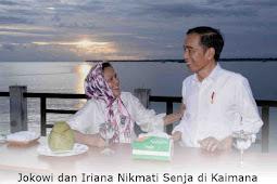 Jokowi dan Iriana Nikmati Senja di Kaimana