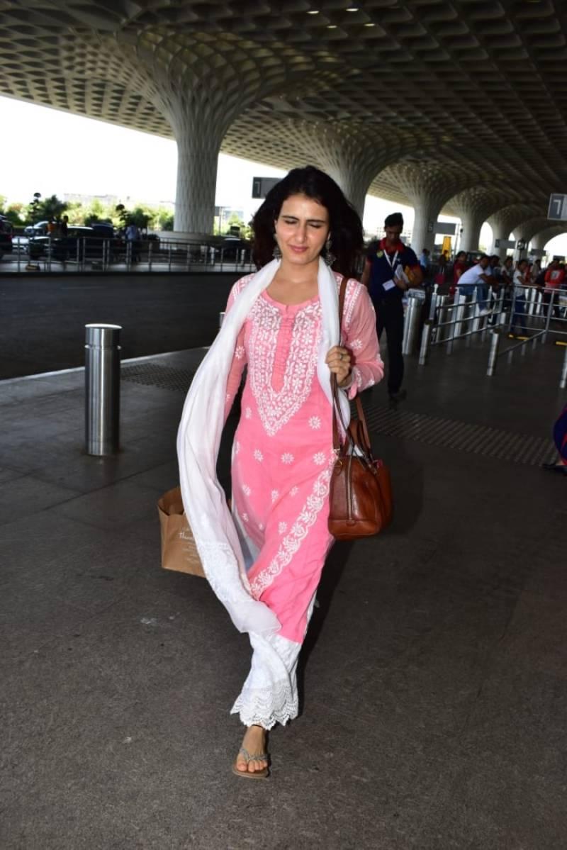 Model Fatima Sana Shaikh spotted In Mumbai Airport