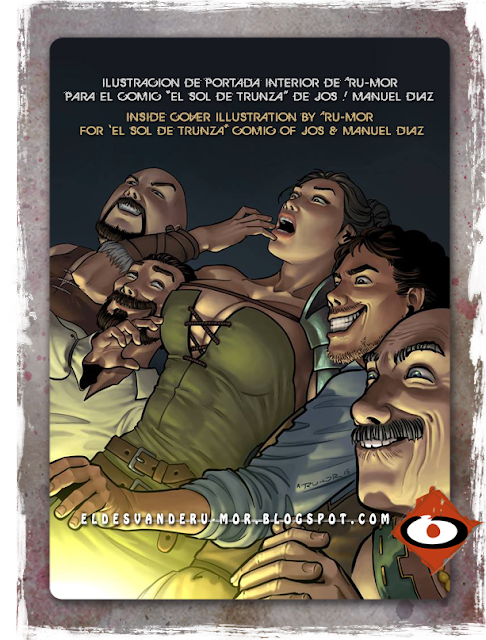 illustration for inside cover of Sol de Trunza comic, done by RU-MOR, published by Carmona en Viñetas