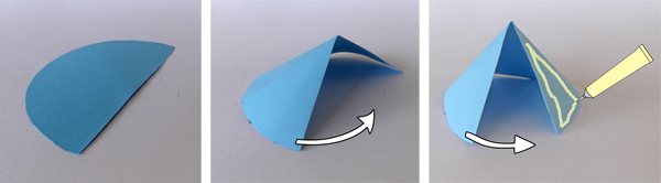 paper cone, how to make paper cone,