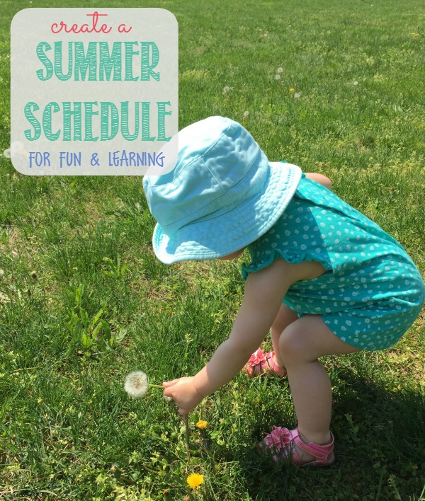 Make a Summer Schedule for your kids. Create a fun, structured environment for all kids, regardless of age with the ideas she shares here.