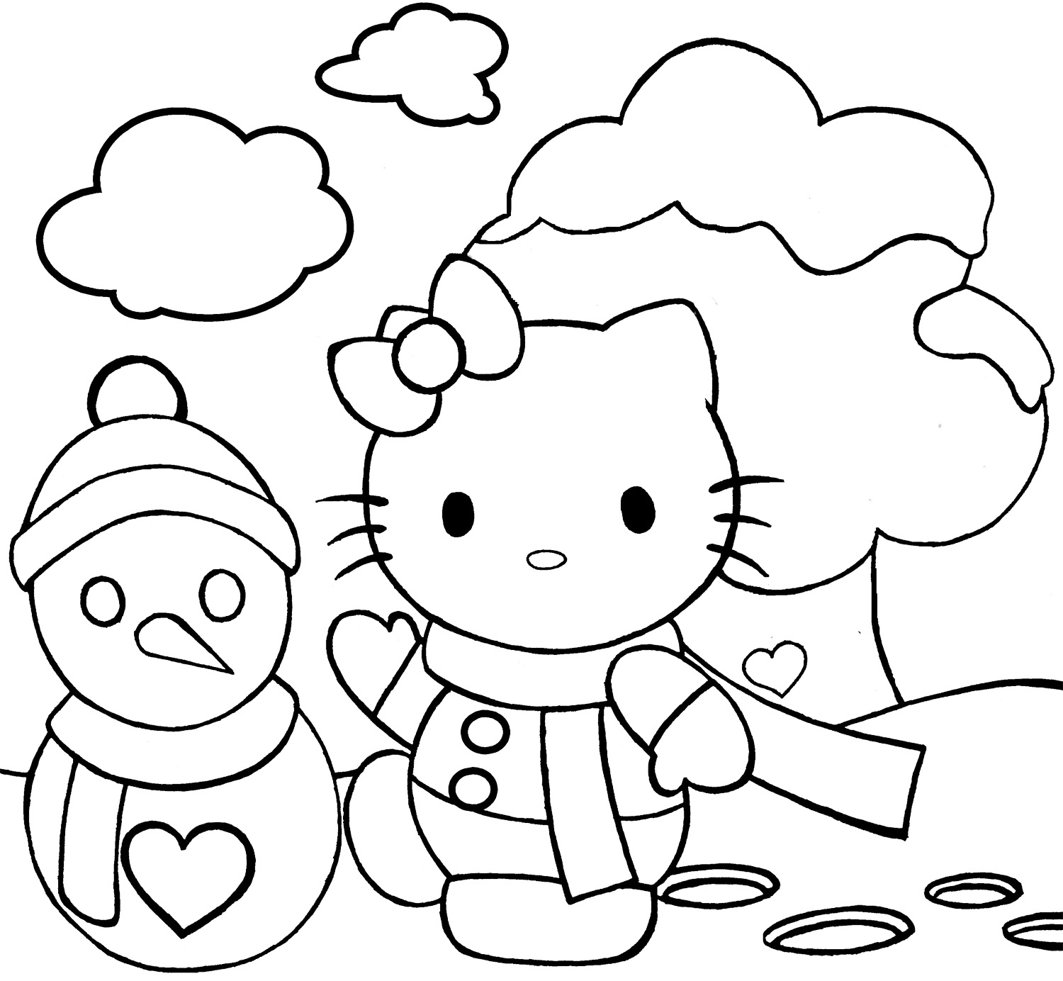 10 idea hello kitty christmas coloring page coloring page for kids