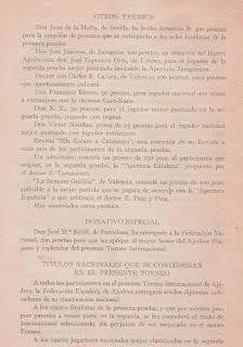 Programa del Torneo Internacional de Ajedrez Barcelona 1929 (4)