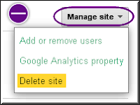 Delete a Site in Google webmaster tools