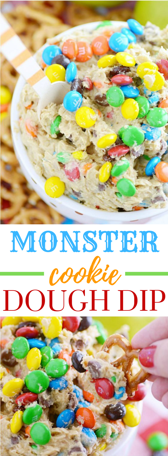 Monster Cookie Dough Dip (the original recipe) #Dessert #Sweetdip