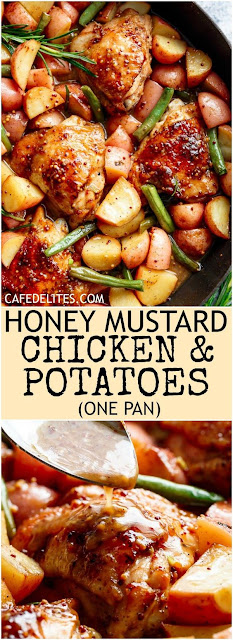 Honey Mustard Chicken & Potatoes (ONE PAN)