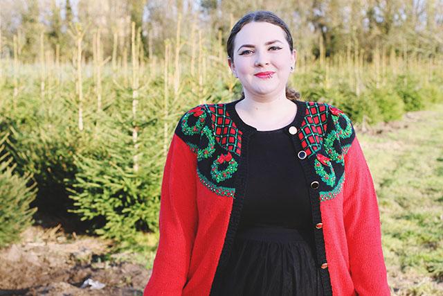 Vintage plus size Christmas jumper