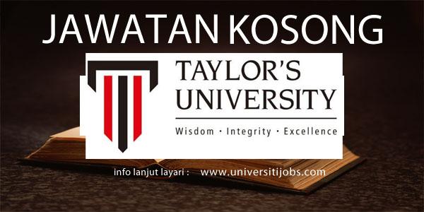 Jawatan Kosong Taylor's University 2016