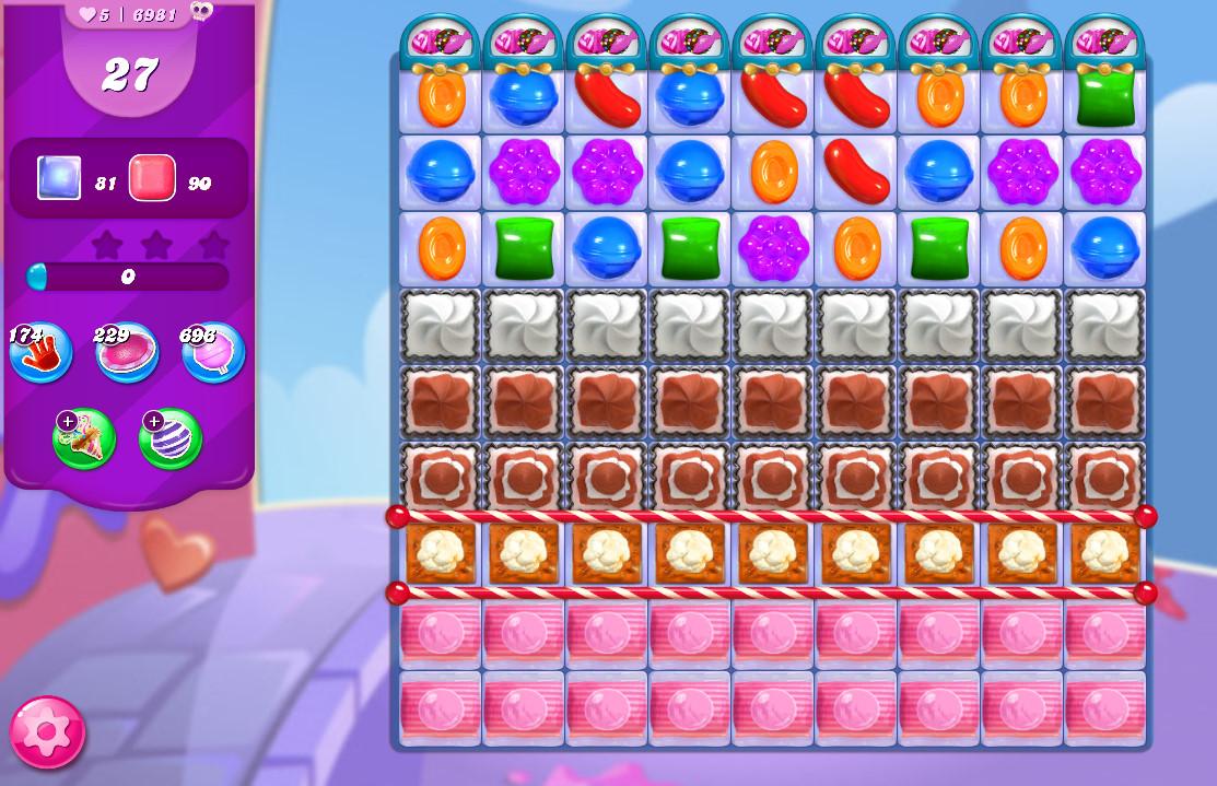 Candy Crush Saga level 6981