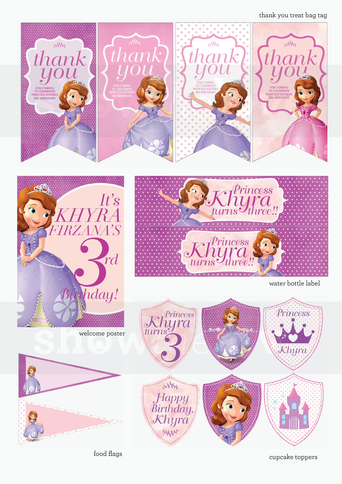 Show The Love Sofia The First Party Printables