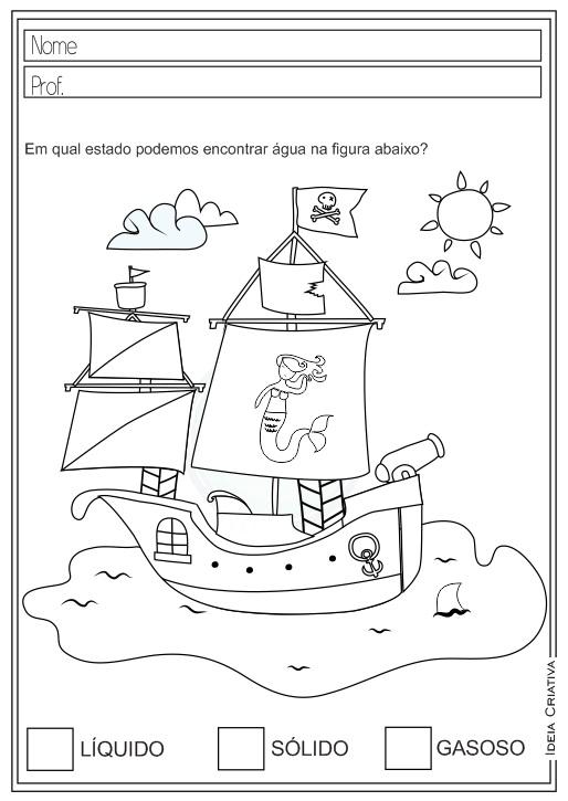 Atividades Educativas Estados Físicos da Água e Mudanças Ciências para Ensino Fundamental