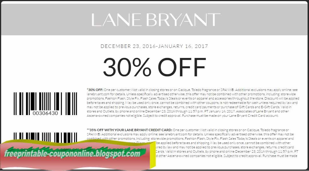 Lane bryant coupons on bras