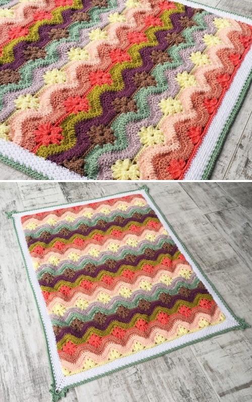 Daisy Chain Blanket - Crochet Pattern
