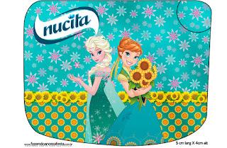 Etiquetas Nucita de Frozen Fever  para imprimir gratis.
