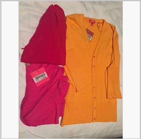 Ladies Pink Orange Red Cardigans