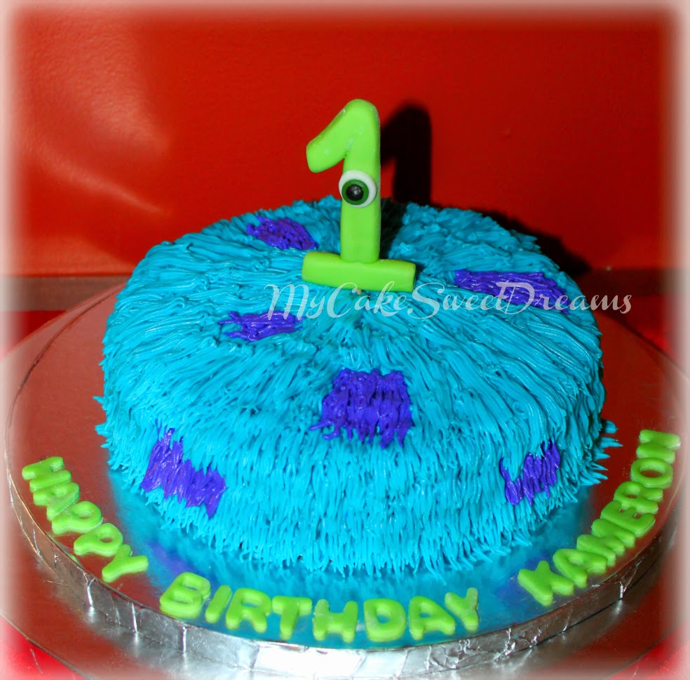 Groovy Cakesbyzana Monsters Inc Birthday Cake Personalised Birthday Cards Veneteletsinfo