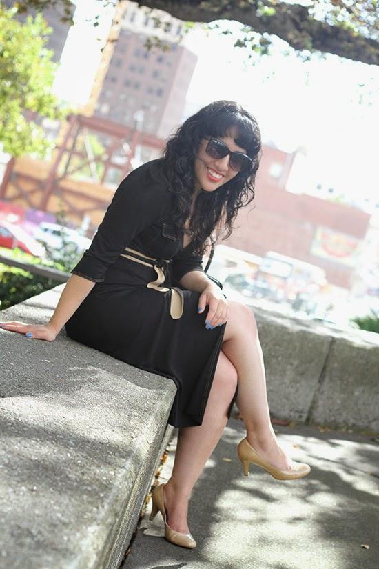 Black DVF Wrap Dress