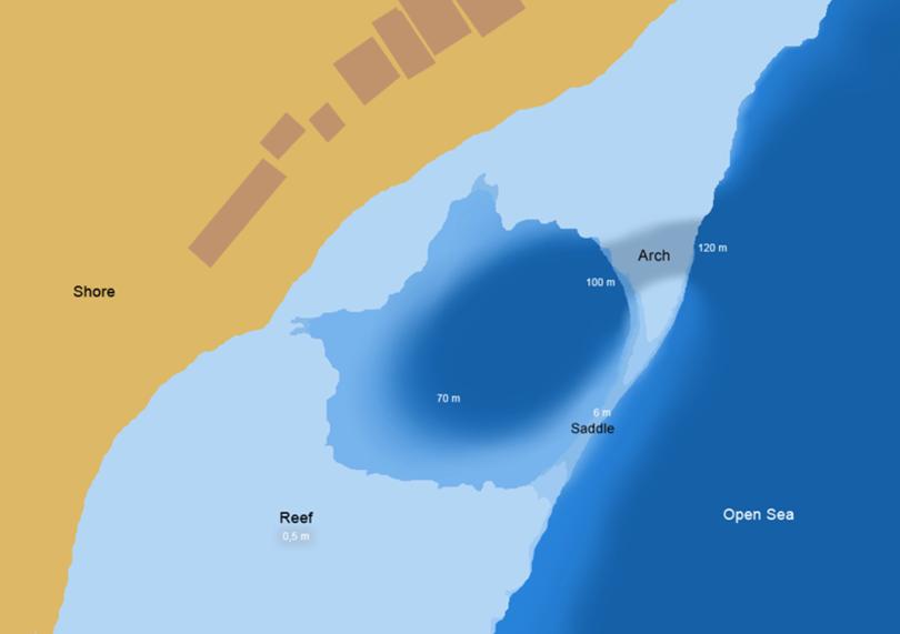 The Blue Hole In Dahab Egypt - Map of egypt dahab