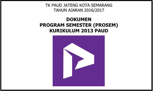 Contoh Program Semester PAUD 2017 Kurikulum 2013