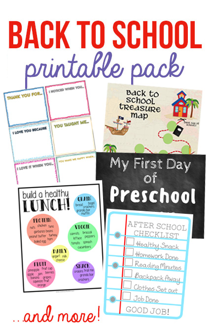 BACK TO SCHOOL PRINTABLE BUNDLE! Get 7 free printables to help you be more organized this school year!
