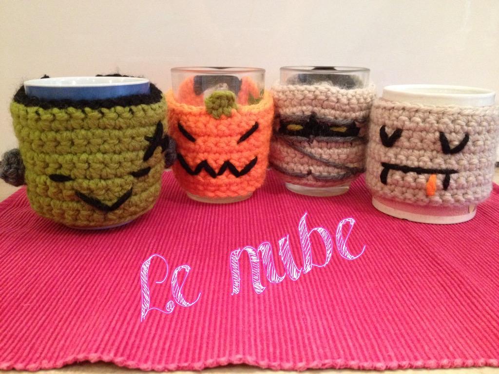 Lenube: Patrón Cubretazas a Crochet para Halloween