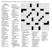 The New York Times Crossword in Gothic: June 2013