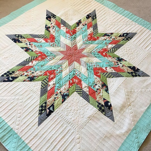 Jellied Lone Star Quilt Free Tutorial
