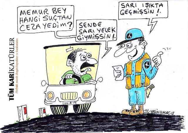 trafik cezaları karikatür