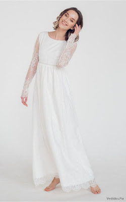 Vestidos Blancos de Encaje