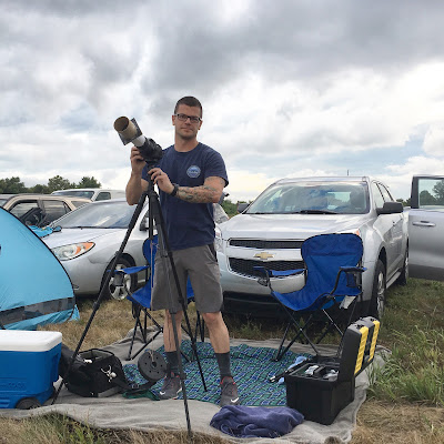 portrait with camera and gear at eclipse tailgate