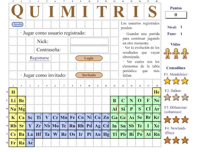 Ptable tabla peridica interactiva quimitris es un juego basado en el tetris para el aprendizaje de la tabla peridica de los elementos urtaz Image collections