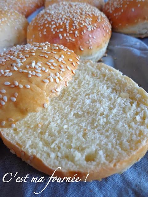 La recette des buns (pains pour hamburger)