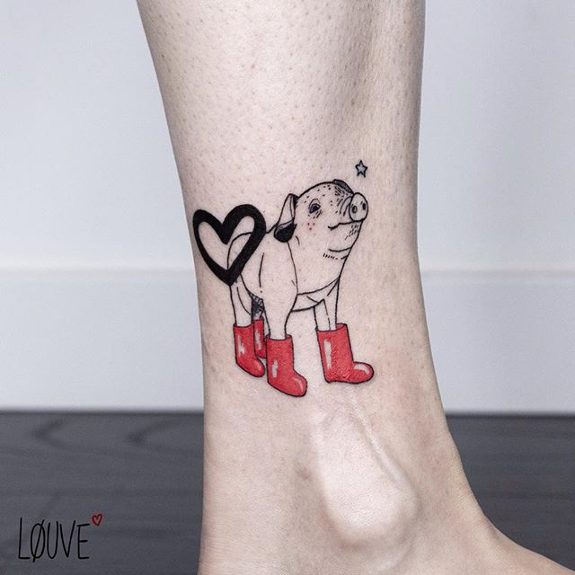 little pig tattoo