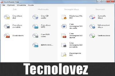 BurnAware Free - Programma di masterizzazione gratuito completo e di facile utilizzo