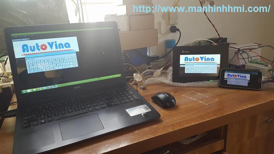 Ứng dụng lập trình Scada màn hình cảm ứng HMI Delta B07E411 qua cổng Ethernet