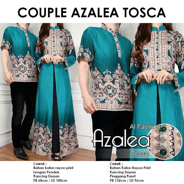 Gamis Couple CP Azalea Tosca Batik Katun Rayon Original By Al Fashion - bursa  grosir gamis batik couple pasar tanah abang jakarta langsung konveksi by  butik ... 781fd63043