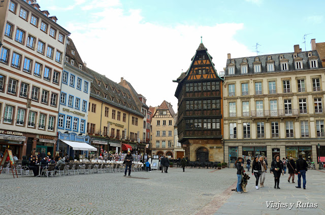 Plaza de la catedral de Estrasburgo