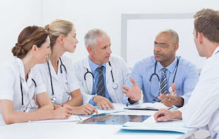 A patient with DGS requires a holistic care and needs to be seen by a group of doctors pictures